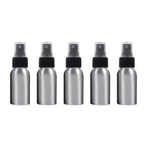 5 PCS Refillable Glass Fine Mist Atomizers Aluminum Bottle, 50ml