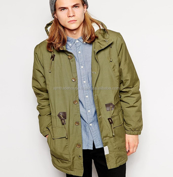 2e5c10494015c Army Green Faux Fur Lined Men Winter Army Parka Jacket - Buy ...