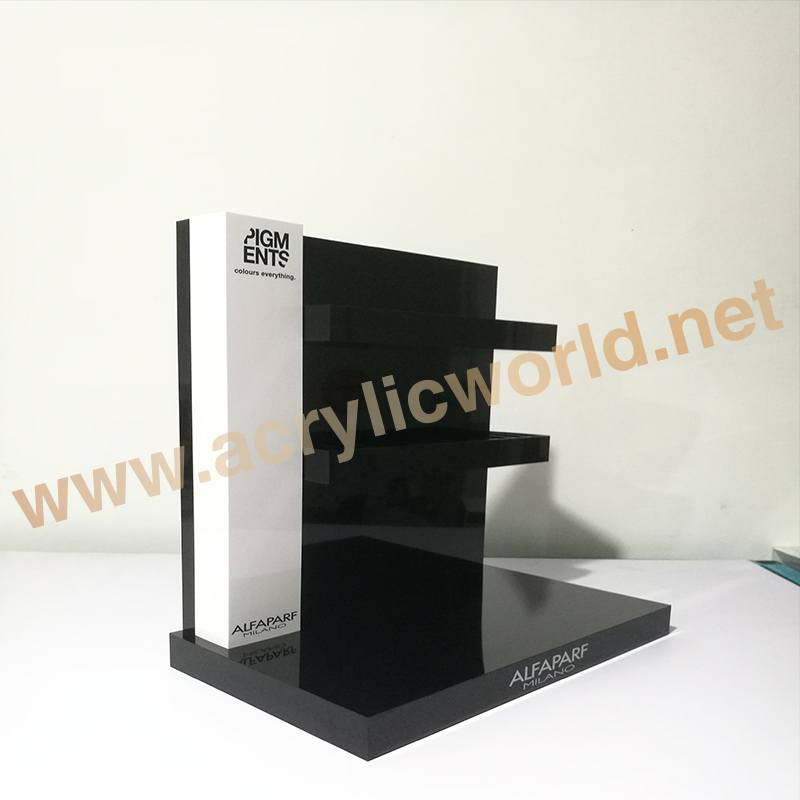 Acrylic product display stand for shampoo / hair product display stands / daily store shampoo counter display