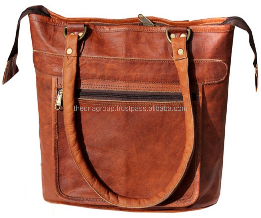 Real Lederen Vintage Messenger Schoudertas Vrouwen Purse Indian Handgemaakte Lederen Tas