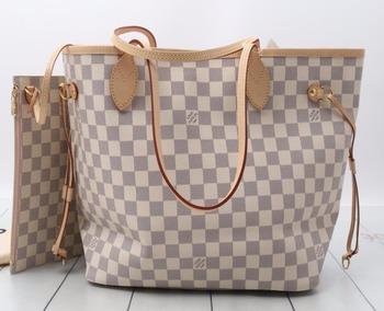 f9ef7ee245f4 Used designer Brand Handbag LOUIS VUITTON N51186 Damier Azur Neverfull MM  Tote bags for bulk sale