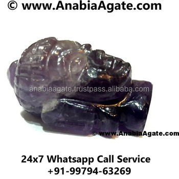 Hand carved Gemstone Amethyst Buddha heads, Thailand Buddha statue for sale