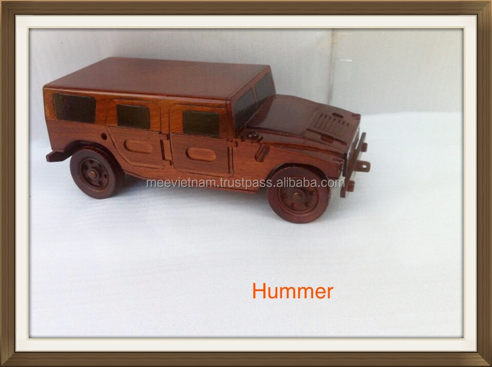 HUMMER WOODEN TANK MODEL, UNIQUE CRAFT OF VIETNAM - HANDICRAFT PRODUCT FOR HOME DECORATION