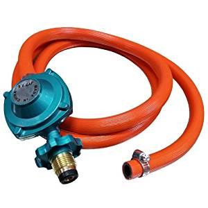 Simply Silver - 6ft Propane Regulator Hose Gas BBQ 4 Regular LPG Burners