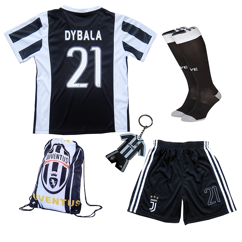 e85816601 Get Quotations · 2017 2018 Juventus Home  10 DYBALA Football Futbol Soccer  Kids Jersey Shorts Socks Set
