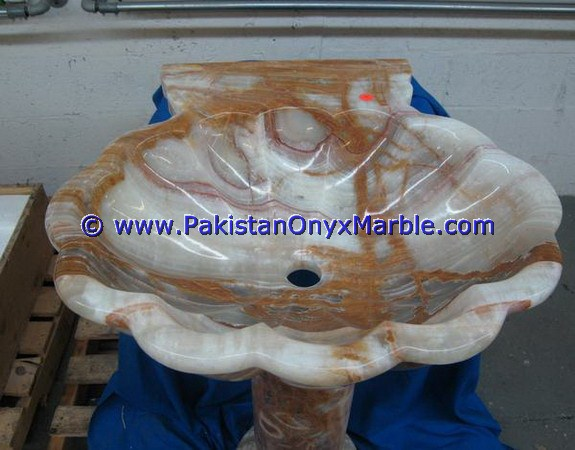 PAKISTAN SUPPLIER ONYX PEDESTALS SINKS BASINS MULTI BROWN