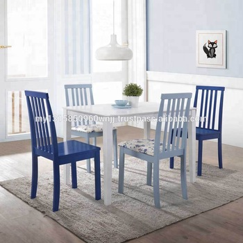 Made In Malaysia Home 5 Piece White And Powder Blue Dining Set Promotion Wooden Dining Room Sets Buy Contemporary White Dining Table White Dining Set Small Dining Room Product On Alibaba Com