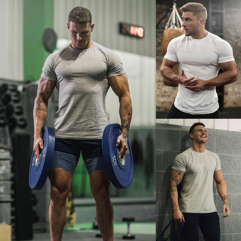 904290973 Gym Line Men Fit Body T-shirt Im.3391 - Buy Muscle Fit T-shirt With ...
