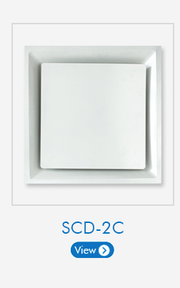 4-Way Square Ceiling Diffuser made of Aluminum