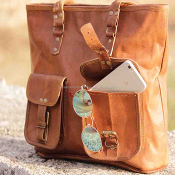 91cd248d6d3de Handmade vintage genuine stylish leather ladies bag tote bag handbag hobo  bag for women