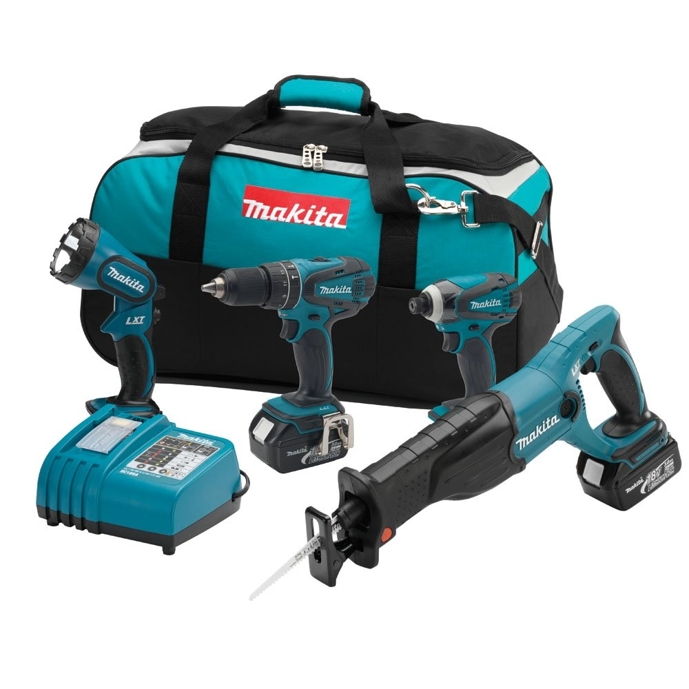 Makita LXT407 18-Volt LXT Lithium-Ion Cordless 4-Piece Combo Kit- Discontinued by Manufacturer (Discontinued by Manufacturer)