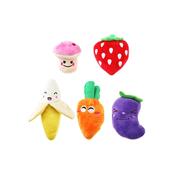 Squeaky Fruits and Vegetables Puppy Dog Toys