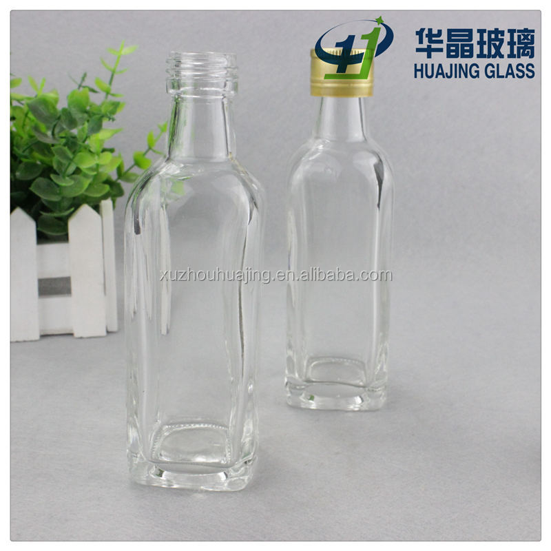 High quality 50ml 2oz clear glass potion bottle safflower oil bottle bruises oil bottle with cap wholesale