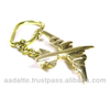 Solid Brass Airplane Key chain key ring aeroplane keychain