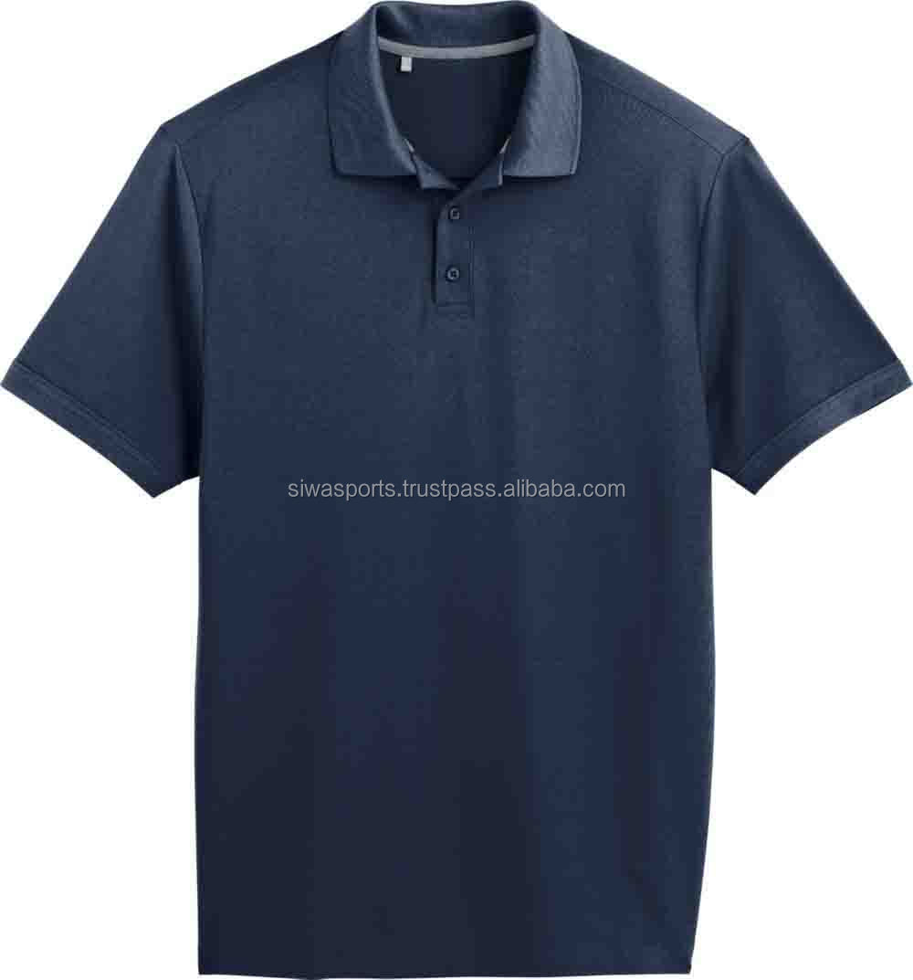 Logo Customized Slim Fit No Button Polo Shirtwholesale Mens