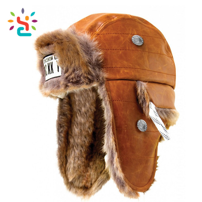 3e76e6ca8a7 Wholesale woolen trapper hat new arrival mens fur hats real fur caps custom  Russian style fur