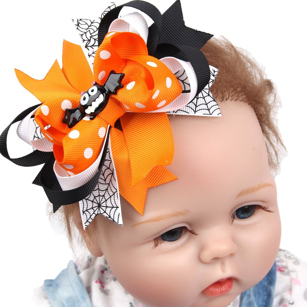 Huayang| Cute Cartoon Hair Bows With Clip for Baby Girls Kids Teens Toddlers Children - Best for Halloween-Kids Cute Swallowtail Design Hair Clip Hairpin