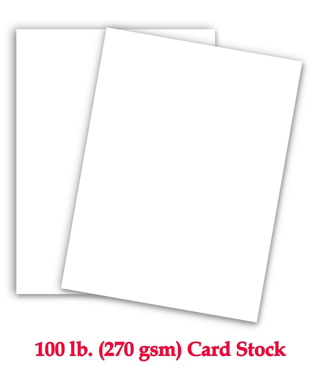 graphic regarding Printable Card Stock known as 100# Go over 270 gsm Printable Major body weight White Card Inventory
