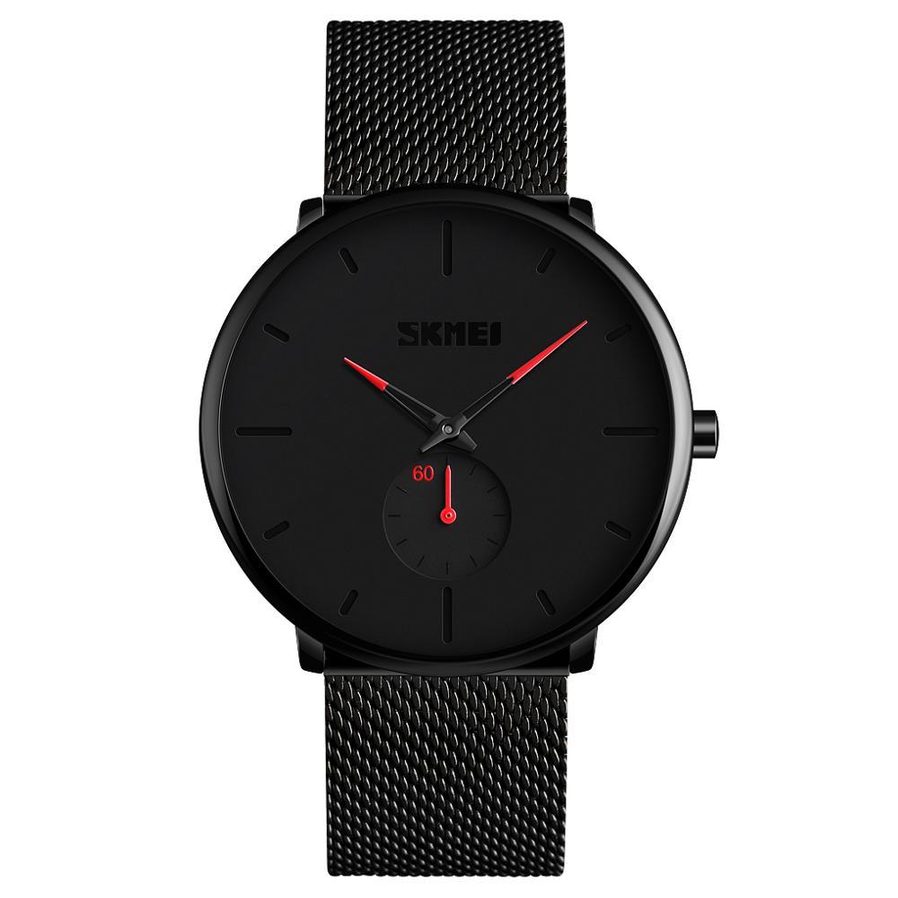 SKMEI 9185 Fashion Luxury Steel Mesh Wristwatch Japan Movement Quartz Waterproof Watch brand your own watches relogio masculino