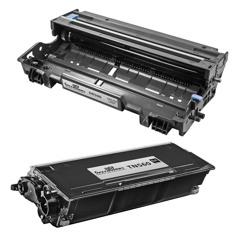 Speedy Inks - Compatible Brother TN560 Toner + DR500 Drum Unit for use in DCP-8020, DCP-8025D, DCP-8025DN, HL-1650, HL-1650LT, HL-1650N, HL-1650N Plus, HL-1670n, HL-1670NLT, HL-1850, HL-1850LT