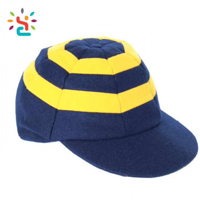 Wholesale design Striped cricket caps hit color sports Striped cricket  custom embroidery logo baggy cricket caps de9cdfc0befe