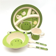 2019 new bamboo 섬유 <span class=keywords><strong>어린이</strong></span> 식탁 핫 잘 팔리는 kids 디너 set
