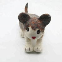 FYND-016 Pussy Cat 100% NZ Wool Educational Toys for Kids Nursery Learning Felted By Nepalese Women Artisans of Low Income Level