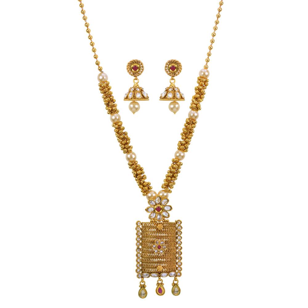Latest Fancy Gold Plated Pendant Set 13336 Buy Buy Artificial Jewellery Online Artificial American Diamond Jewellery Imitation Jewellery Product On Alibaba Com