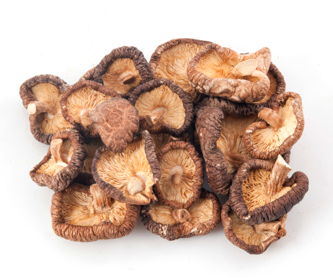 Dry bulk dried shiitake mushrooms