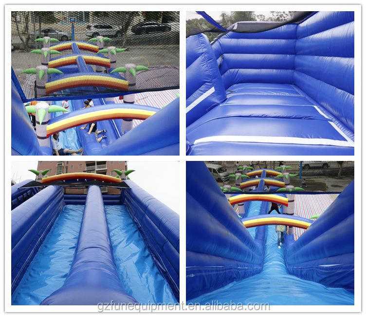 Gaint Tropical Palm Tree Inflatable Water Slide Inflatable Slip N Slide For Sale