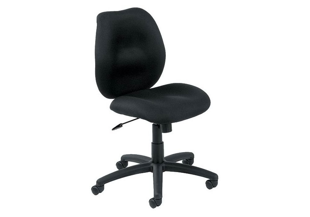 """Armless Mid-Back Fabric Task Chair Black Fabric Dimensions: 19.5""""W x 23.5""""D x 34.5-38""""H Seat Dimensions: 20""""Wx19.5""""Dx18-22""""H"""