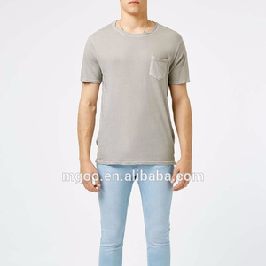OEM Services Shirts With Hemp Clothing Grey With Old Wash Looking Plain Shirt With Pocket Wholesale