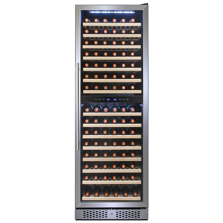 FIREBIRD 160 Bottles Single Zone Stainless Steel Door Touch Control Freestanding Wine Cooler Chiller Refrigerator w/ Built-in Compressor