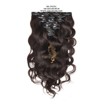 SET CLIP IN HAIR FULL HEAD DOUBLE DRAWN ANKA HAIR