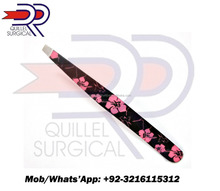 Professional Beauty Salon Eyebrow Slanted Tweezers Tweezers PINK FLOWER