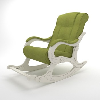 Rocking Chair for Adults, Model-77 Wooden (Apple Green)