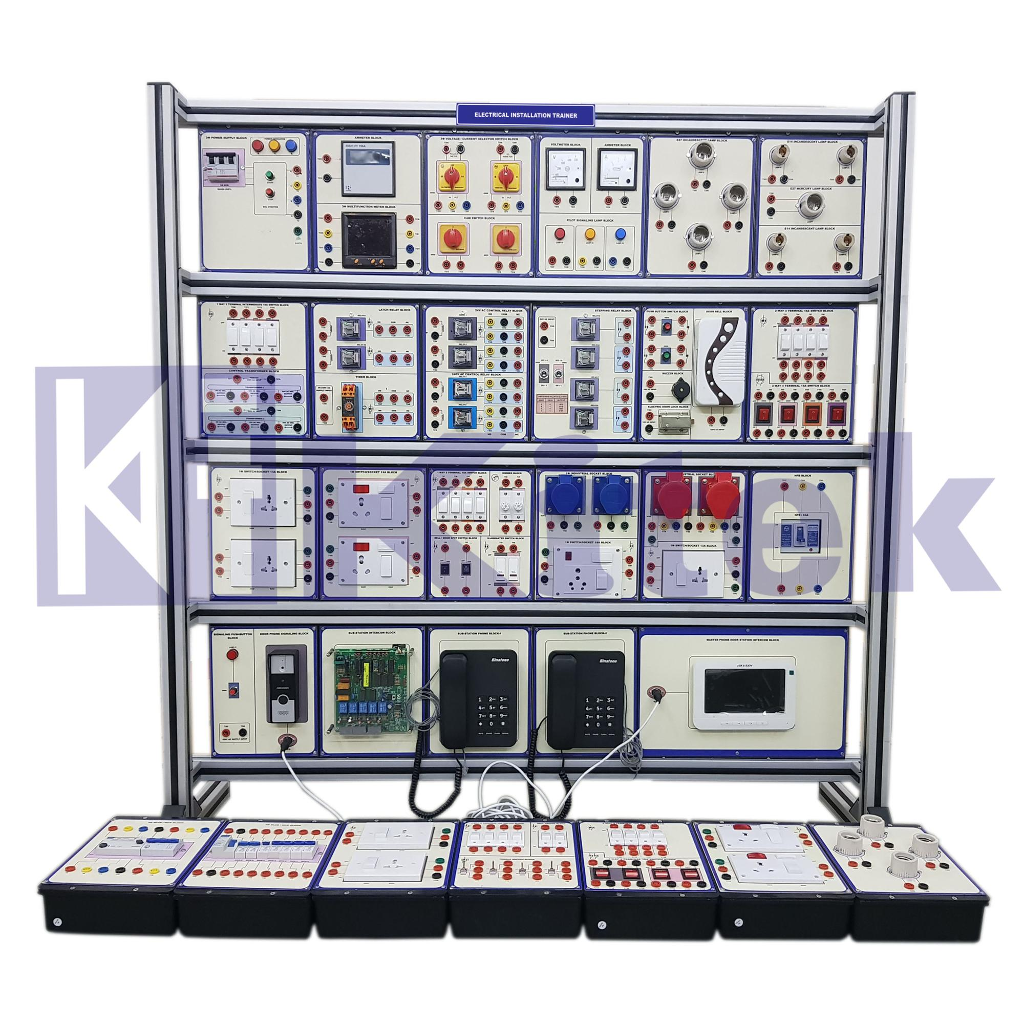Electrical Home Installation Trainer Educational Equipment Didactic Equipment