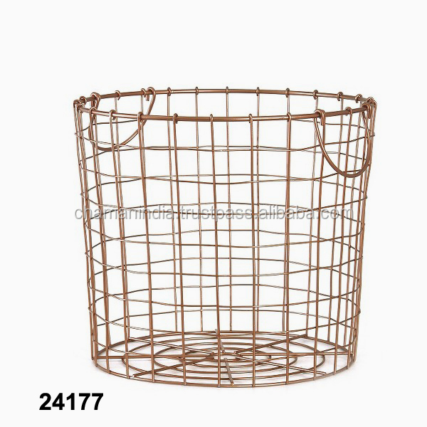 Vintage Chicken Wire Oval Basket