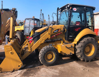 Running condition America made used cat 430F backhoe loader for sale in Shanghai site