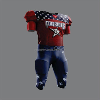 cff1c38bb Four way Stretchable Spandex Sublimated American Football Team uniforms
