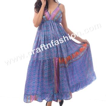 db9f4ab33ed Designer Indo Western Maxi Dress - Australian Style Long Ibiza Dress - Indian  Hippie Boho Long