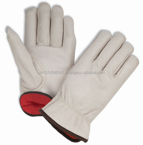 Lined winter leather safety gloves/ winter driving gloves / driver gloves with lining