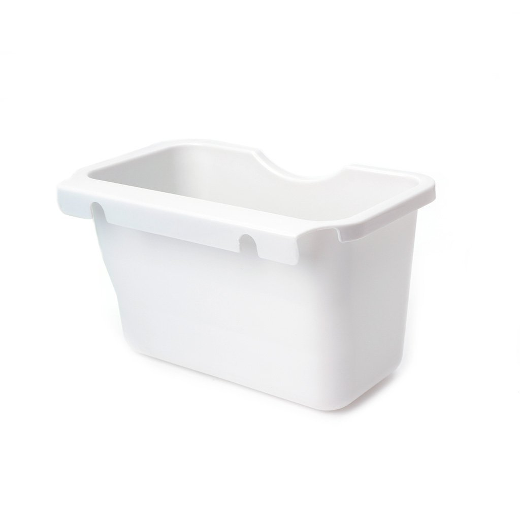 Onpiece Creative Plastic Kitchen Door Basket Wastebaskets Multifuctional Hanging Trash Can Waste Bins Deskside Recycling Garbage Bowls Can Containers (White)