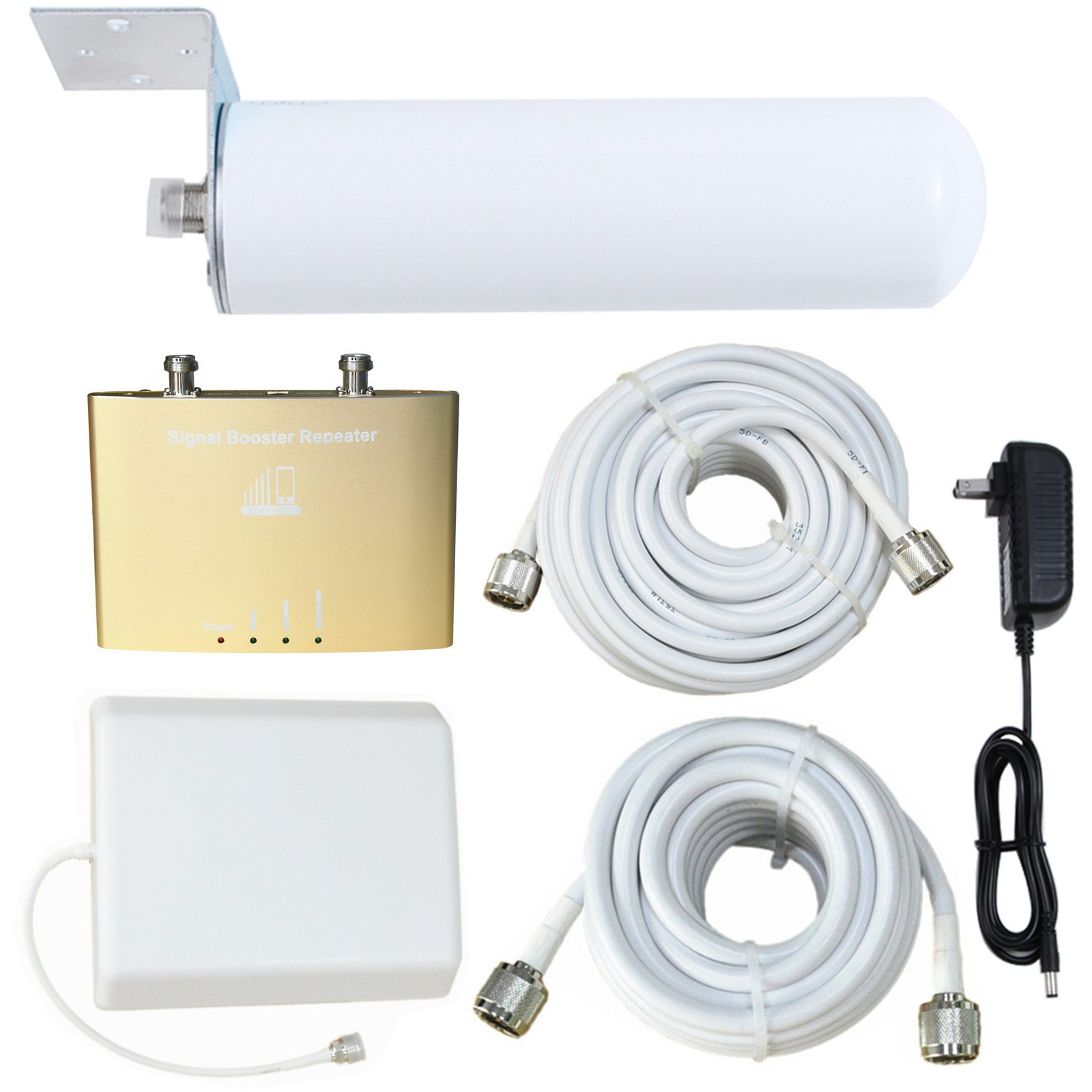 4G Mobile Signal Amplifier - Cell Phone Signal Booster Band 13 Verizon 700MHz 4G LTE Mingcoll Signal Repeater with Indoor Directional Panel Antenna and Outdoor Omnidirectional Tubular Antenna