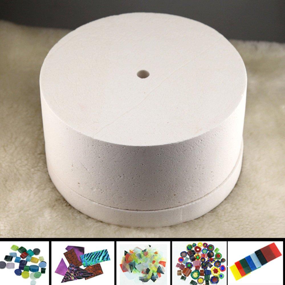 50Pcs 8x8cm Bullseye Hot Pot Thinfire Kiln Paper for DIY Glass Fusing by ShopIdea