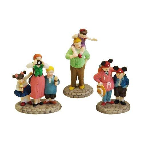 "Department 56 Disney Parks Village Series ""Disney Parks Family"" (Set of 3) #5354-6"
