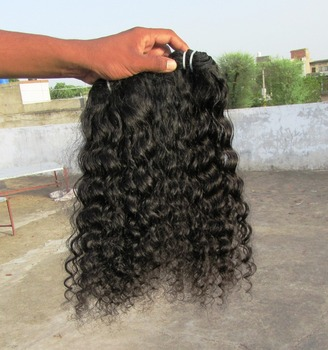 Virgin Wavy Hair Extensions from India