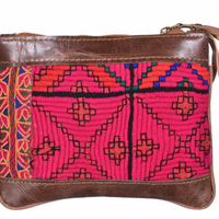 Indian Traditional Clutch Embroidery Handmade Women Genuine Hobo Tote Handbags