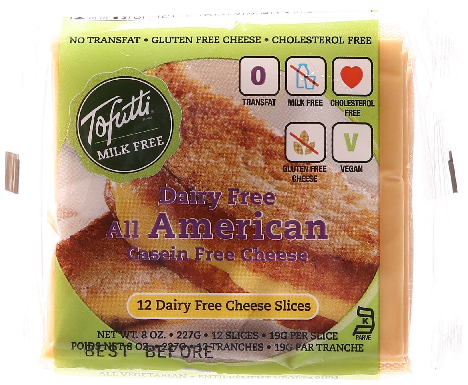 Tofutti, Soy Cheese Slices, American Flavor, 12 Slices, 8 oz