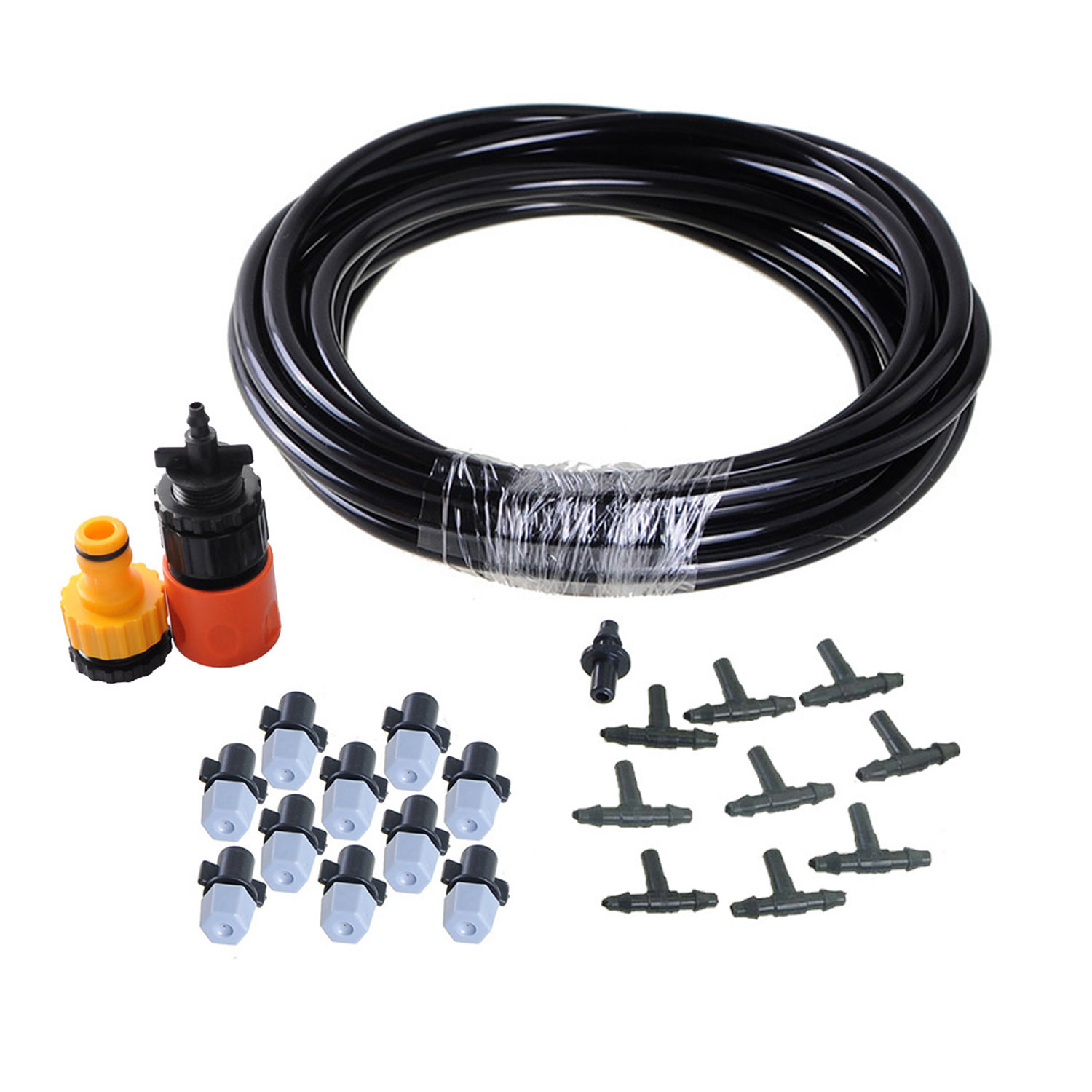 Best selling DIY 15FT 10 Nozzles Misting System Kit For Outdoor Garden Greenhouse Irrigation Reptile Mosquito Prevent